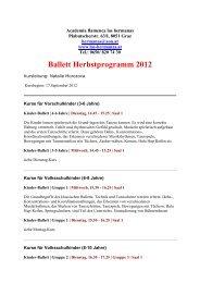 Ballett Herbstprogramm 2012 - Info-Graz