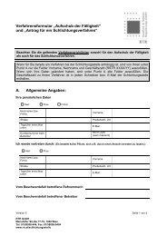 """Verfahrensformular """"Aufschub der Fälligkeit"""" und """"Antrag ... - Info-Graz"""