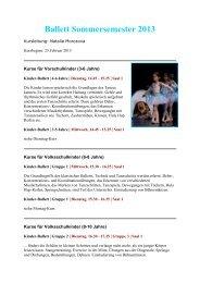 Ballett Sommersemester 2013 - Info-Graz