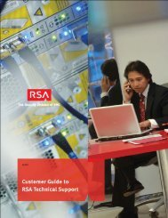 Welcome to RSA Technical Support - Info-Point-Security
