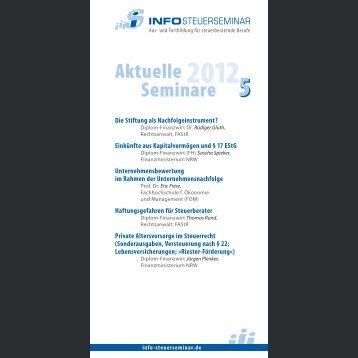 Aktuelle Seminare 5 - Info-Steuerseminar
