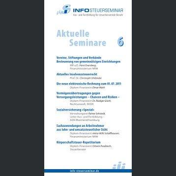 Aktuelle Seminare 6 - Info-Steuerseminar