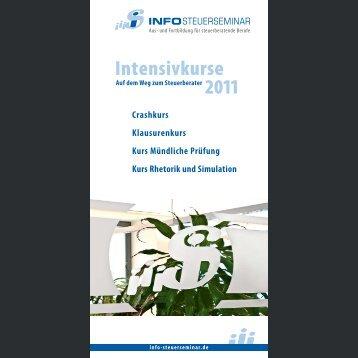 Intensiv-Vorbereitung - Info-Steuerseminar