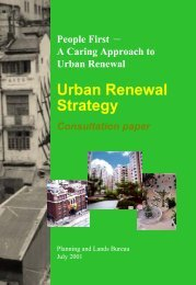 Urban Renewal Strategy Consultation paper