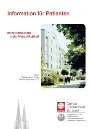 Information für Patienten - Caritas-Krankenhaus St. Josef Regensburg