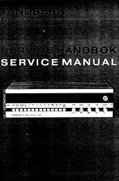 Page 1 Page 2 Denne service~héndboken dekker TR'1000 og TR ...