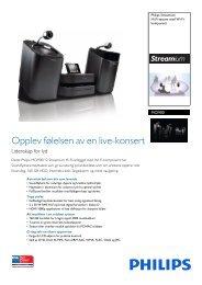 Leaflet MCI900_12 Released Norway (Norwegian) High ... - Philips