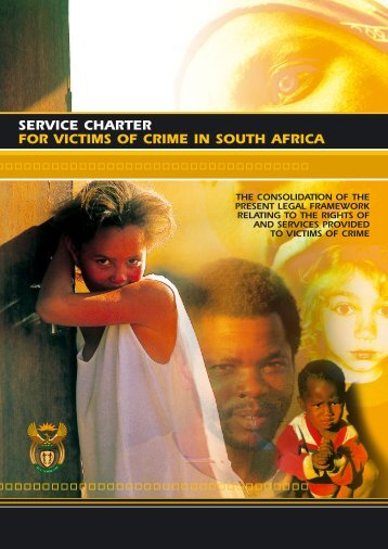 Service Charter for Victims of Crime - National Prosecuting Authority