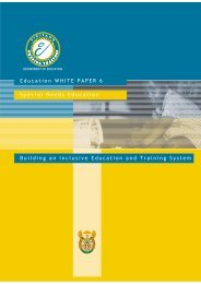 Education White Paper 6 - South Africa Government Online