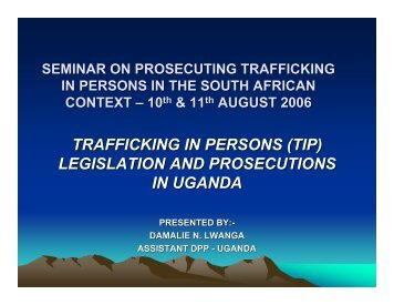 legislation and prosecutions in uganda