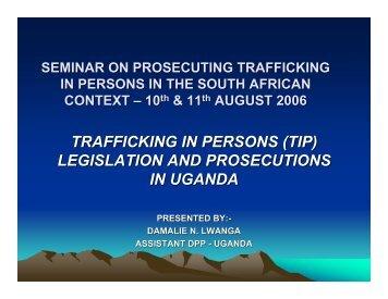 legislation and prosecutions in uganda