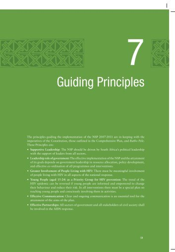 Guiding Principles - South Africa Government Online