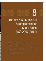 The HIV & AIDS and STI Strategic Plan for South Africa (NSP 2007 ...