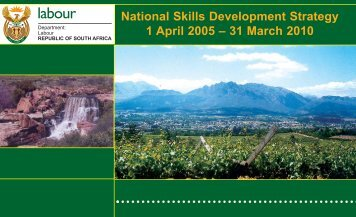 National Skills development Strategy - South Africa Government ...