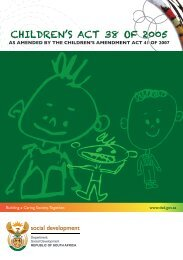 Children's Act booklet - South African Government Information