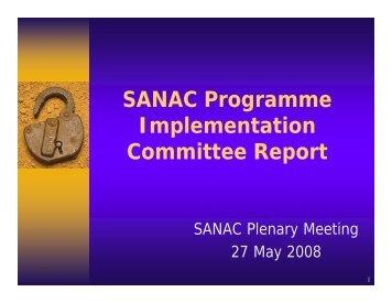 SANAC Programme Implementation Committee Report