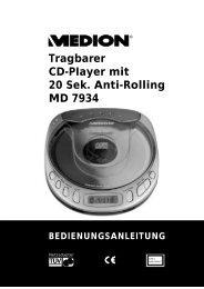 Tragbarer Cd-Piayer mit 20 Sek. Anti-Rolling MD 7934 - Medion