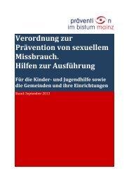 Hilfen zur Umsetzung der Präventionsverordnung - Bistum Mainz