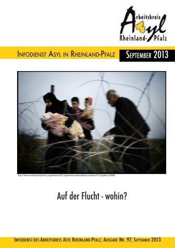 Infodienst Nr. 97 September 2013 - Arbeitskreis Asyl Rheinland-Pfalz