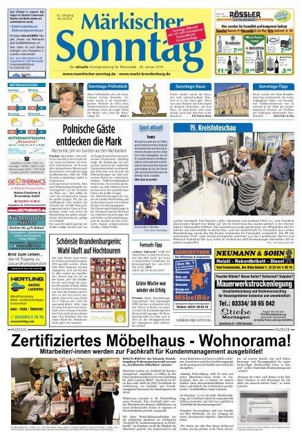 Zertifiziertes Möbelhaus Wohnorama Märkischer Sonntag