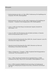 Bibliographie • Bundesministerium der Justiz et al. (Hg.) (2004 ...