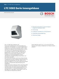 LTC 9303 Serie Innengehäuse - Bosch Security Systems