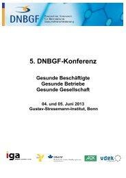 Tagungsunterlagen - Deutsches Netzwerk für betriebliche ...