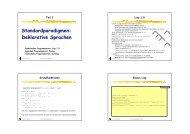 Standardparadigmen: Deklarative Sprachen