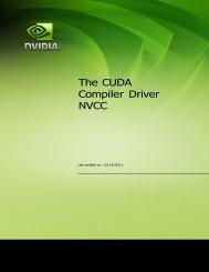 CUDA compiler driver nvcc - HPC Cluster