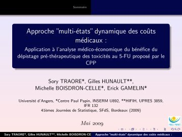 """Approche """"multi-états"""" dynamique des coûts médicaux - Université d ..."""