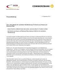 Grüne Bänder für vorbildiche Talentförderung - Der Deutsche ...