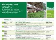 Winterprogramm 2013/2014 - Bioland