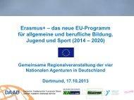 Erasmus+ – das neue EU-Programm für allgemeine und ... - eu-DAAD