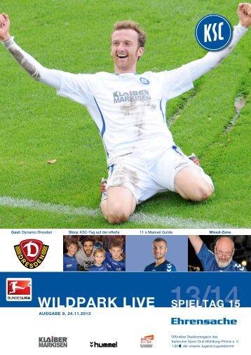 Stadionzeitung 15. Spieltag (KSC - Dynamo Dresden) - Karlsruher SC