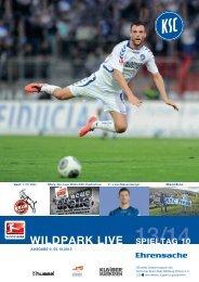 Stadionzeitung 10. Spieltag (KSC - 1. FC Köln) - Karlsruher SC