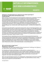 aktuelle informationen aus dem agrarbereich 03/2013 - BASF ...