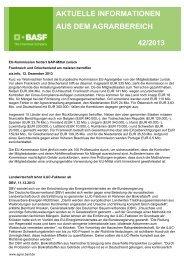 aktuelle informationen aus dem agrarbereich 42/2013 - BASF ...