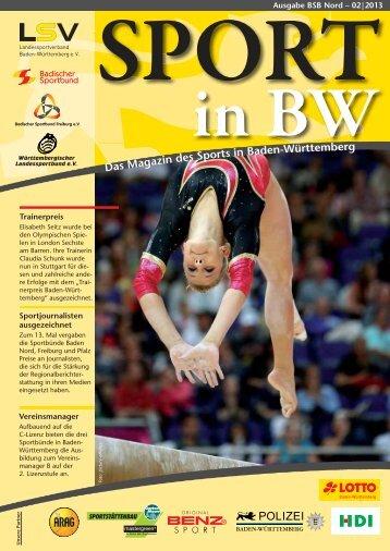 """""""SPORT in BW"""" Nr. 02/13 - Badischer Sportbund Nord eV"""