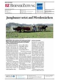 Jungbauer setzt auf Pferdestärken - Bioaktuell.ch