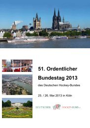 Bundestagsheft 2013 - Deutscher Hockey Bund e.V.