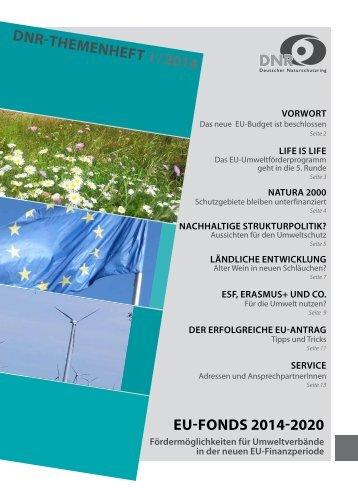DNR-Themenheft EU-Fonds 2014-2020 - EU-Koordination