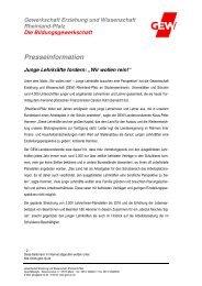 PM 2013-11-19_Wir wollen rein.pdf - GEW Rheinland-Pfalz