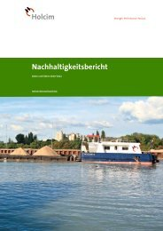 Nachhaltigkeitsbericht 2010–2012 der Holcim (Deutschland) AG