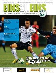 EINSZUEINS 01/2013 (Auszüge) - Fußball-Verband Mittelrhein e.V.