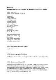 Protokoll der Sitzung vom 16.07.2013 - Propsteipfarrgemeinde St ...