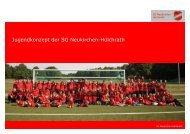 Jugendkonzept Fussball