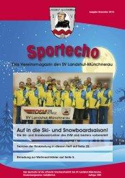 Sport-Echo Dezember 2013 - SV Landshut Münchnerau
