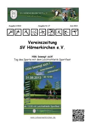 SV Hoeki Zeitung Nr. 17 – 2013 Juni - SV Hörnerkirchen e.V.