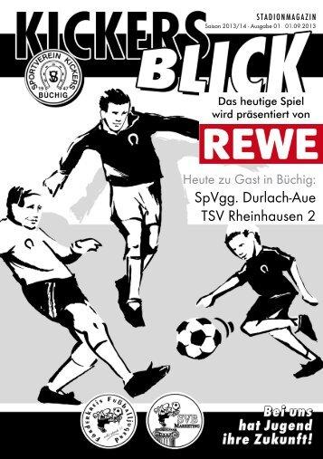 SpVgg. Durlach-Aue TSV Rheinhausen 2 - SV Kickers Büchig