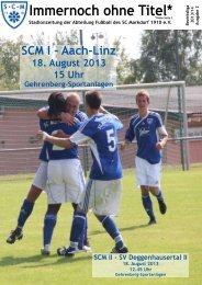 Stadionzeitschrift 25.08.2013 -- SCM I - TSV Aach-Linz
